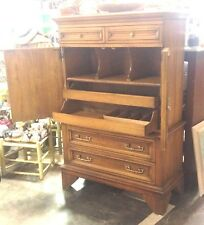 VINTAGE LINEN PRESS W/ FIVE DRAWERS & DOUBLE DOORS BY WHITE FINE FURNITURE,NICE