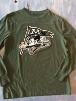 "mickey mouse Soft Long sleeve shirt Mens Med Green AUTHENTIC ""Disney Parks"" ! 🏰"