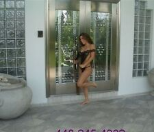 Double Stainless Steel Entry Doors Made of 304 Stainless/ Open Inward