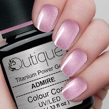 Qutique ADMIRE Soak Off Gel Nail Polish Colour -Metallic Dark Pink