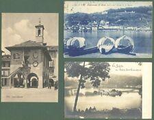 Piemonte. ORTA, ISOLA S. GIULIO, Novara. 3 cartoline viaggiate nel 1908 - 1910.