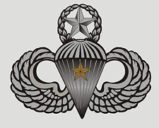 US ARMY AIRBORNE COMBAT JUMP WINGS (ONE JUMP) STICKER !!