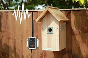 Bird Box Wireless AHD Camera | Garden Hanging Nest 1080p Wooden Pitched Roof UK
