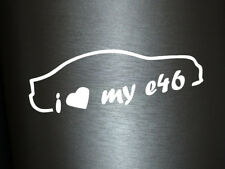 1 x 2 forcé autocollant I LOVE MY e46 BMW tuning sticker des autocollants Fun Dub gag