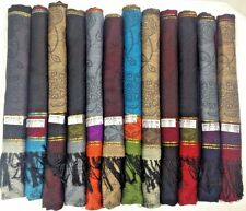 12 NEW Soft Silk Pashmina Cashmere Shawl scarf Stole Wrap Women Wholesale LOT