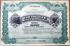 1880 Stock Certificate: 'Louisville and Jeffersonville Bridge Company' - KY/IN
