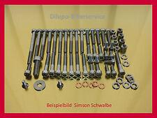 Simson SR4  KR51/1 Schwalbe Habicht Star- Edelstahlschrauben Motor Schraubensatz