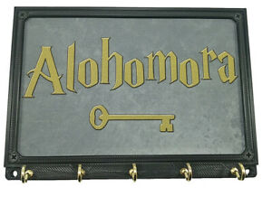 Alohomora Harry Potter Key Hanger Holder Rack Organizer Wall Mount Storage Hooks