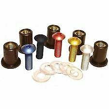 Oxford Motorcycle Anodised Screen Screws Gold Pack + Allen Key OF983 BC12876 T