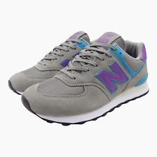 New Balance 574 Suede Mens Trainers Sneakers UK 9 ML574 Grey Purple Rare Sample