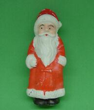 "Large Antique Signed Japan 3-1/2"" Bisque Santa In Long Christmas Coat"