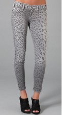 CURRENT/ ELLIOTT The Stiletto Grey Leopard Jeans Size 29/0