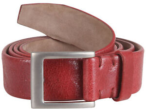 """Brunello Cucinelli women's leather belt buckle red size M Italy 42 US 6"""" GB 10"""