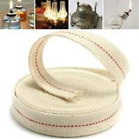 White Flat Cotton Oil Lamp Lantern Wick 20mm For Kerosene Burner Lighting 1M