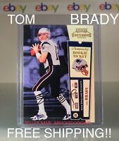 2000 PLAYOFF CONTENDERS AUTO TOM BRADY ROOKIE SIGNED REPRINT 012/100 MINT RC!!
