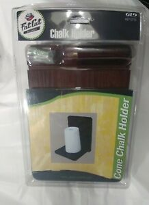 Pool Chalk Holder Wall Mount Wood Cone Chalk Pool Table Accessories Hand Chalk