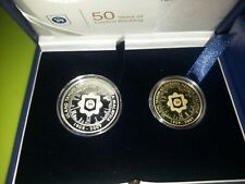 Malaysia 50th Anniversary Bank Negara Malaysia Proof Coin Set of 2 Silver  2009
