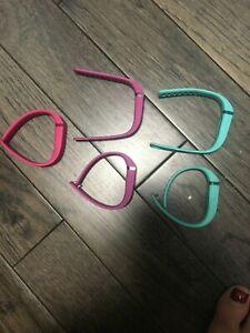 5 Fitbit Flex Vibrant Size Small Wristbands Purple, Pink, Teal, Bracelets Bands