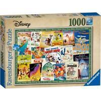Ravensburger Disney Vintage Retro Film Posters Jigsaw Puzzle 1000 Pieces  SEALED