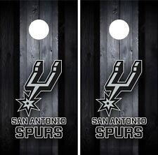 San Antonio Spurs Cornhole Wrap Decal Stickers Vinyl Gameboard Skin Set JC039