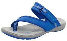 Ladies Strap Toe Post Sandals Women Summer Velcro Casual Walking Shoes Blue Uk5 - Eu38