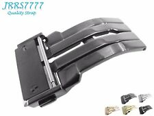 22mm Watch Strap Deployment Stainless Steel Titanium Brushed Hublo Solid Buckle