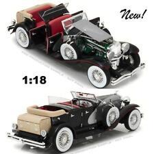 GREENLIGHT 13504 1934 DUESENBERG II SJ BLACK AND SILVER DIECAST MODEL CAR 1:18