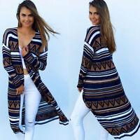 Women's Autumn Winter Open Front Sweater Cardigan Long Maxi Casual Outwear Coat