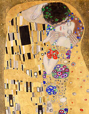 Gustav Klimt, The Kiss (Cropped) 1907, Fade Resistant HD Art Print or Canvas