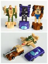 3 x TRANSFORMERS 1989 G1 Micromasters ~ Road Hugger ~ Sunrunner ~ Big Shot