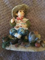 THE HUNGRY GARDENER FIGURINE by CHRISTINE HAWORTH - THE LEONARDO COLLECTION