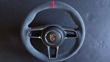 991 GT3 RS 991 997 TURBO S STICK SHIFT ALCANTARA  STEERING WHEEL RED TOP AIRBAG