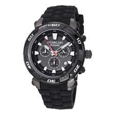 Stuhrling Xtreme 375 335B1 Windshear Chonograph Black Poly Strap Mens Watch