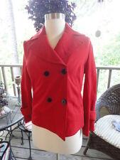 DIANE VON FURSTENBERG Cosmic Red Jacket Blazer Size 2 SHIPS FREE!!