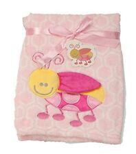 Supersoft Superior Quality Luxurious Pink 3D Ladybird Pram/Crib Blanket