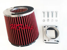 RED Air Intake Filter + MAF Adapter W/screws For 1986-1999 Toyota Celica 2.0 L4