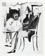 """Strong 1954 PABLO PICASSO Human Comedie Print """"Meeting of the Minds"""" Framed COA"""