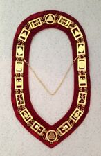 Royal Arch Chapter Collar in Gold Finish - Red Backing (RAC-34G-CV)