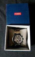 Timex intelligent quartz fly-back Black With Brown Nylon Sport Strap