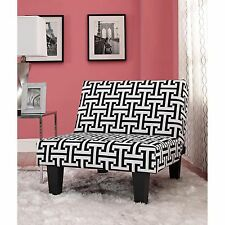 Oversize Chair Modern Geometric Black/White Accent Living Room Lounge Reclining