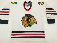 CCM Official Chicago Blackhawks Hockey Jersey Youth LARGE L White NHL EXCELLENT