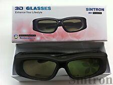 [Sintron] 2 pairs 2012 3D Active glasses for Samsung TV UN60ES8000F UN65ES8000F