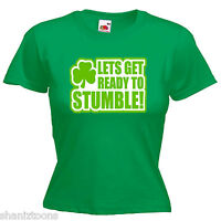 Ireland St Patrick's Day Funny Ladies Lady Fit T Shirt 13 Colours Size 6 - 16