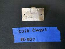 Jeep Willys early 45-46 Chassis data plate R1057 (P81)
