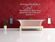 Epheians 6:11  bible verse vinly wall decal sticker decor
