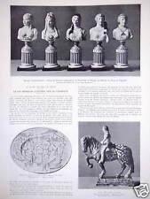 ARTICLE 1934 LA VIE FRANÇAISE ILLUSTRÉE PAR LA CÉRAMIQUE FAÏENCE DE PARIS LYON
