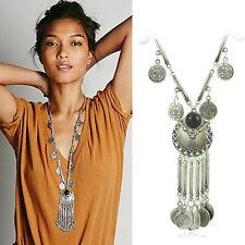 Fashion Charm Jewelry Pendant Long Sweater Chain Silver Choker Chunky Necklace