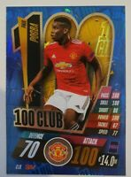 2020/21 Match Attax UEFA Champions League - Paul Pogba 100 Club Manchester Utd