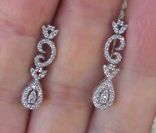 $3,800  18k White Gold Diamonds Earrings