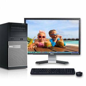 "Dell Optiplex 390 Tower i5 3.1GHz CPU 256GB SSD 1TB HDD 6GB RAM 19"" LCD Monitor"